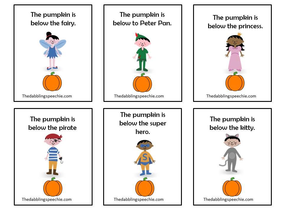 Preposition Under Clipart princess under the pumpkin