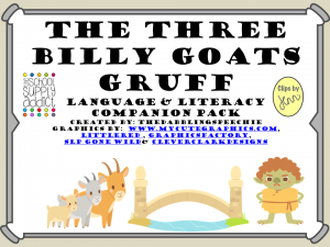 3 Billy Goats Gruff Speech & Language Companion Pack & DIY FREEBIE