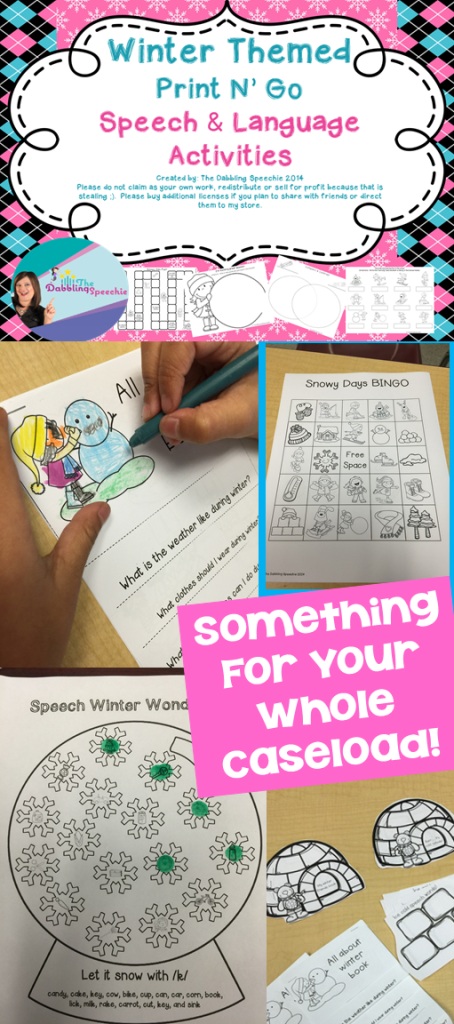winter speech activities