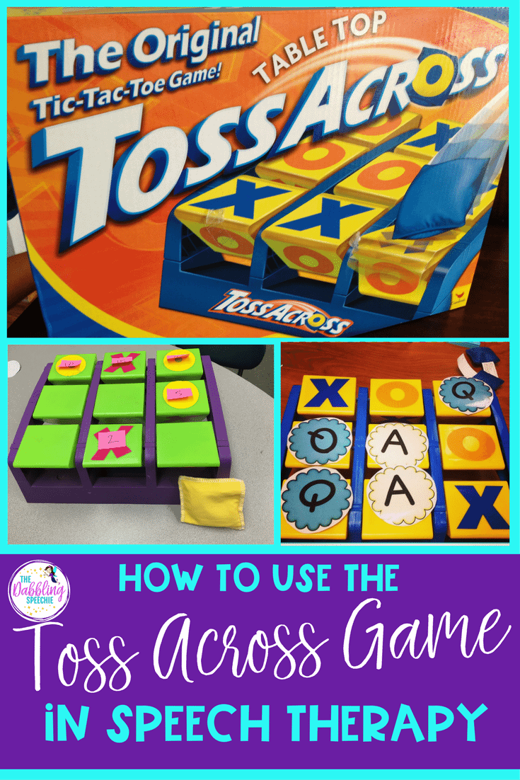 Need a new game to incorporate in speech therapy? Use toss across game in speech therapy to get your students up and moving.