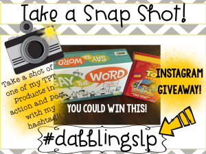 Take a Snap Shot Instagram GIVEAWAY!