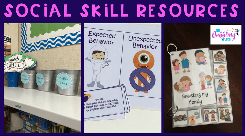 social skill resources that can help you teach perspective taking, functional communication, hidden social rules and more!