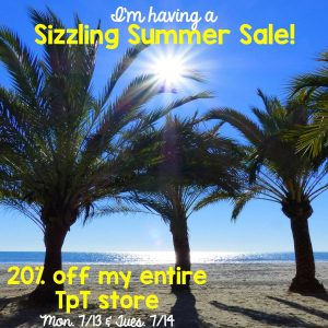 Sizzling Summer Sale on TPT