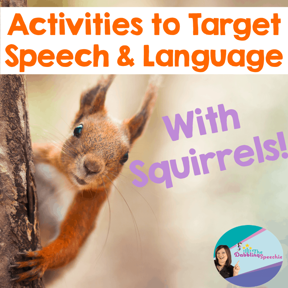 squirrels speech and language activities