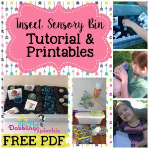 Insect Sensory Bins For Speech Therapy