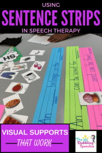 Using Sentence Starter Strips In Speech Therapy