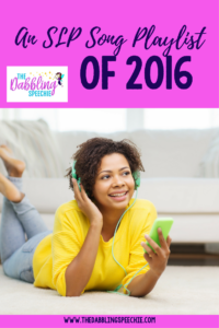 An SLP Song Playlist of 2016
