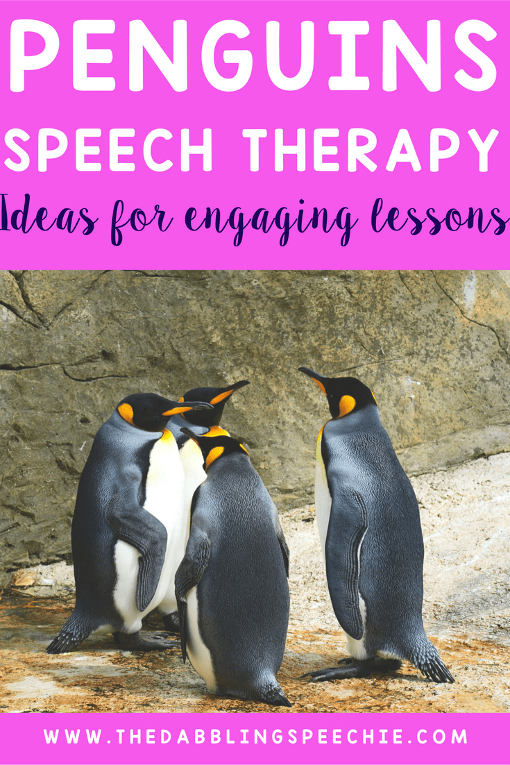 using penguins in speech therapy is a fun, engaging theme for the winter season. Lots of winter therapy ideas using penguins.