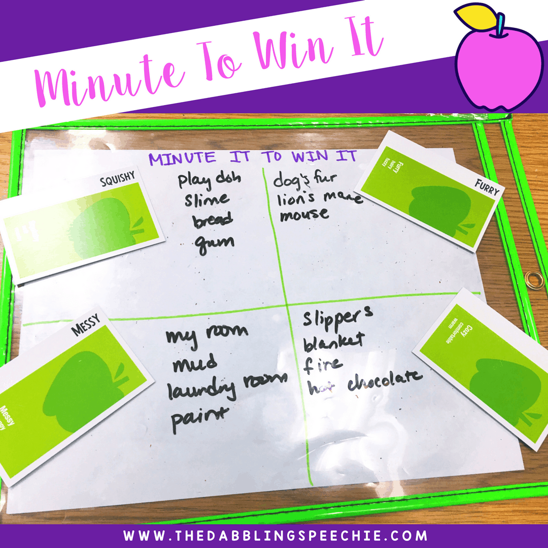 apples to apples is a fun game that can be adapted in speech therapy for articulation, language, grammar and social skills.