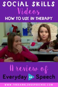 Social Skills Videos- A Review of Everyday Speech Videos