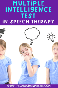 How To Use The Multiple Intelligence Test In Speech Therapy