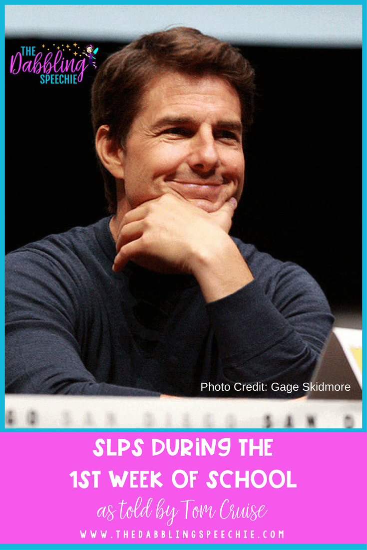 SLPs on the week of school as told my Tom Cruise. A little humor on the speech life that speech therapists live in the school setting.