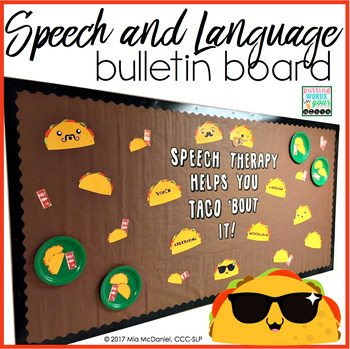 speech therapy bulletin boards for SLPS