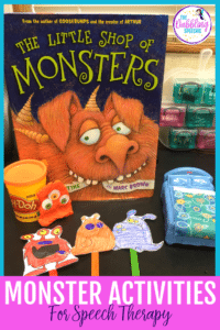 Monster Activities For Speech Therapy
