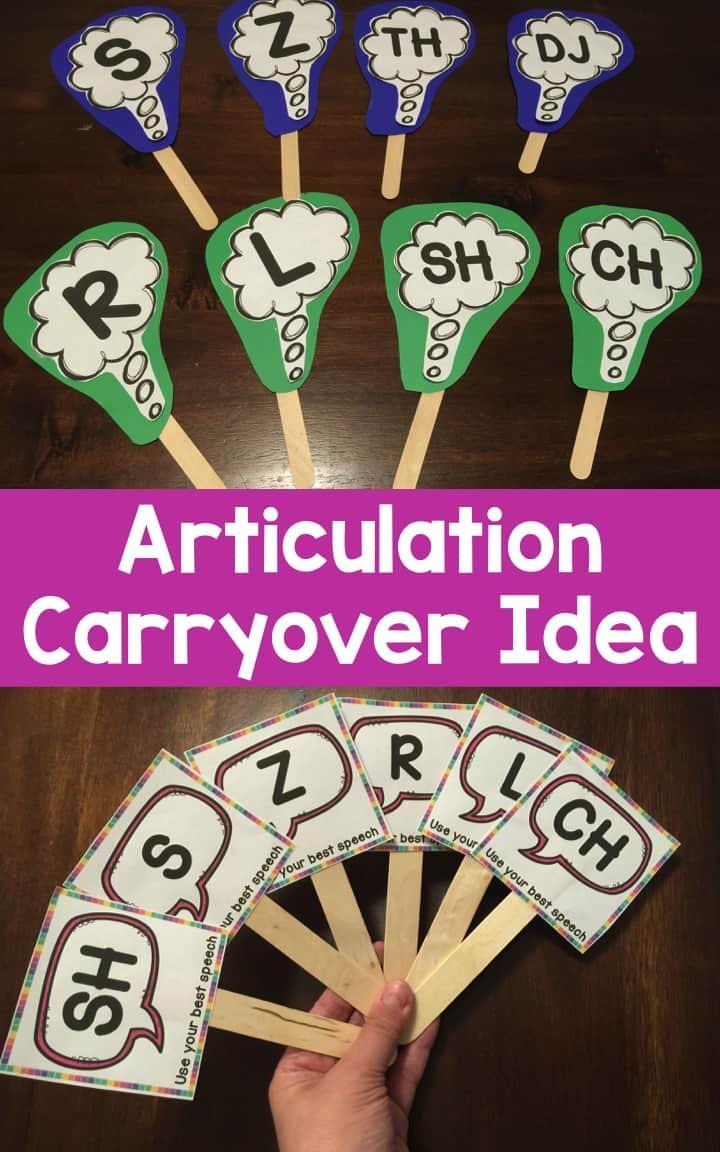 articulation carryover idea