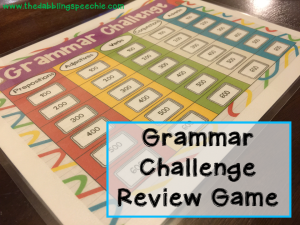 Back To School review game post