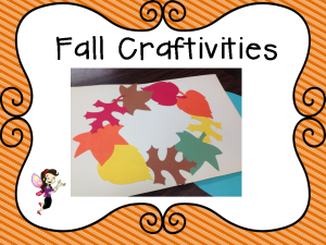 fall craftivities