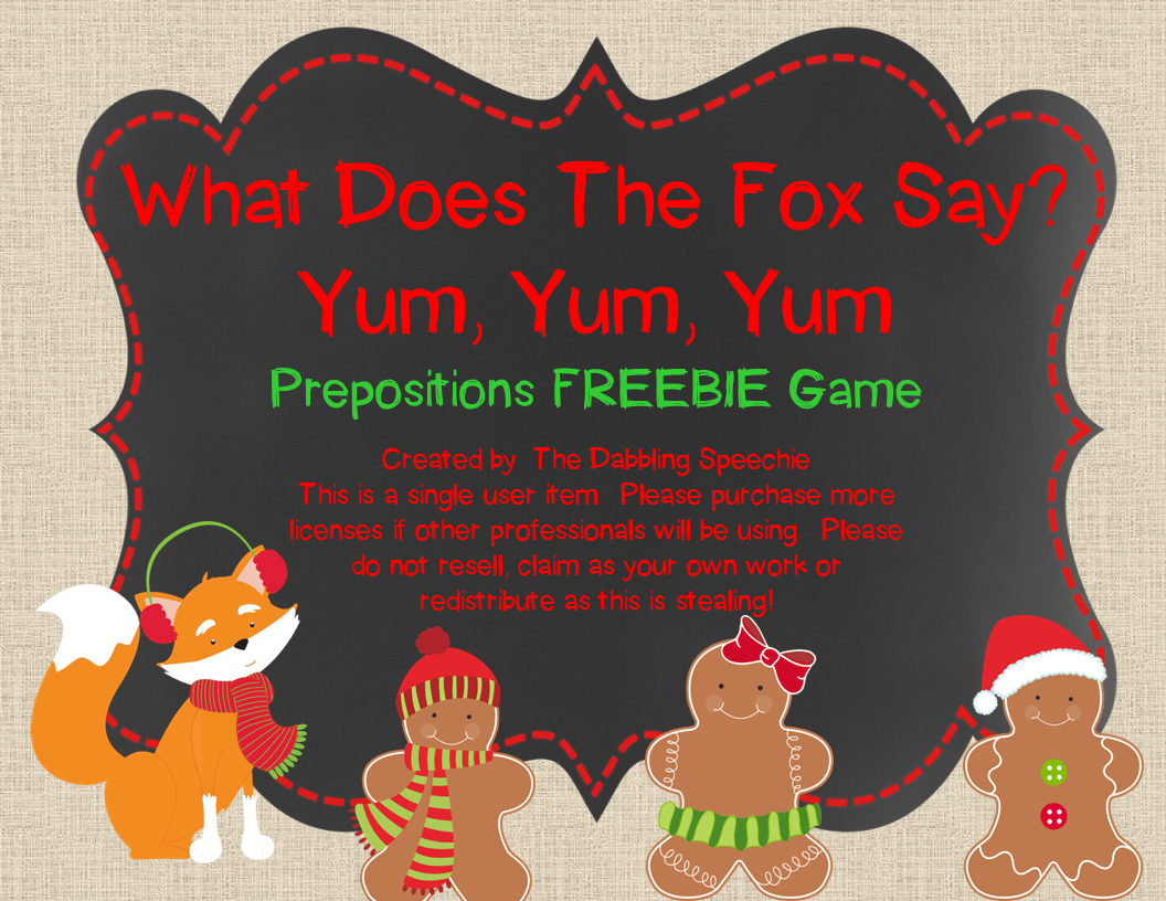 What Does The Fox Say More Speech Language Activities