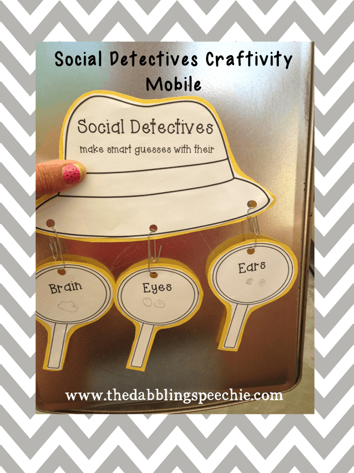 Social Detectives Craftivity - thedabblingspeechie