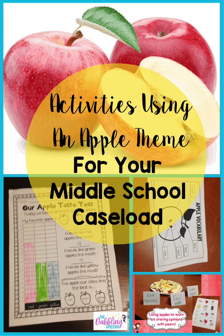 activities for middle school with an apple theme