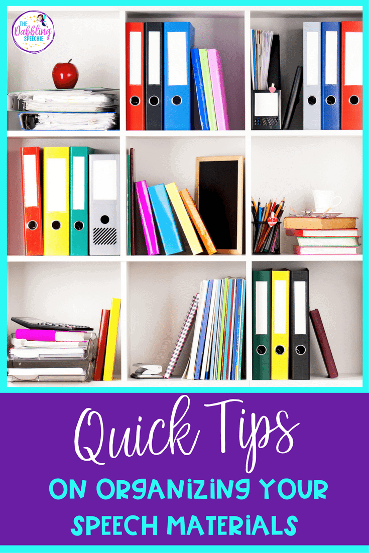 Need some quick tips for organization? Here are organizational tips for your speech materials.