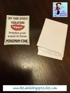 speech fines in a deck