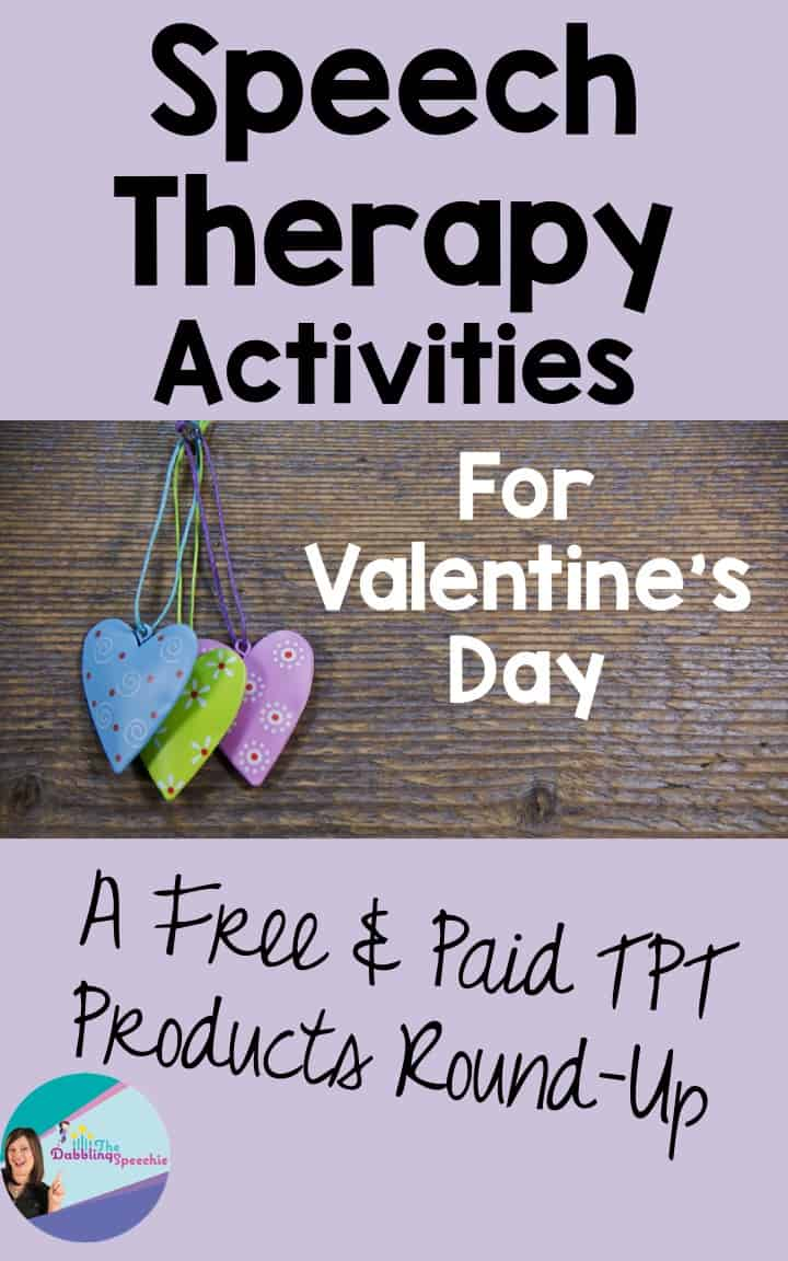 Valentine's Day speech therapy activities