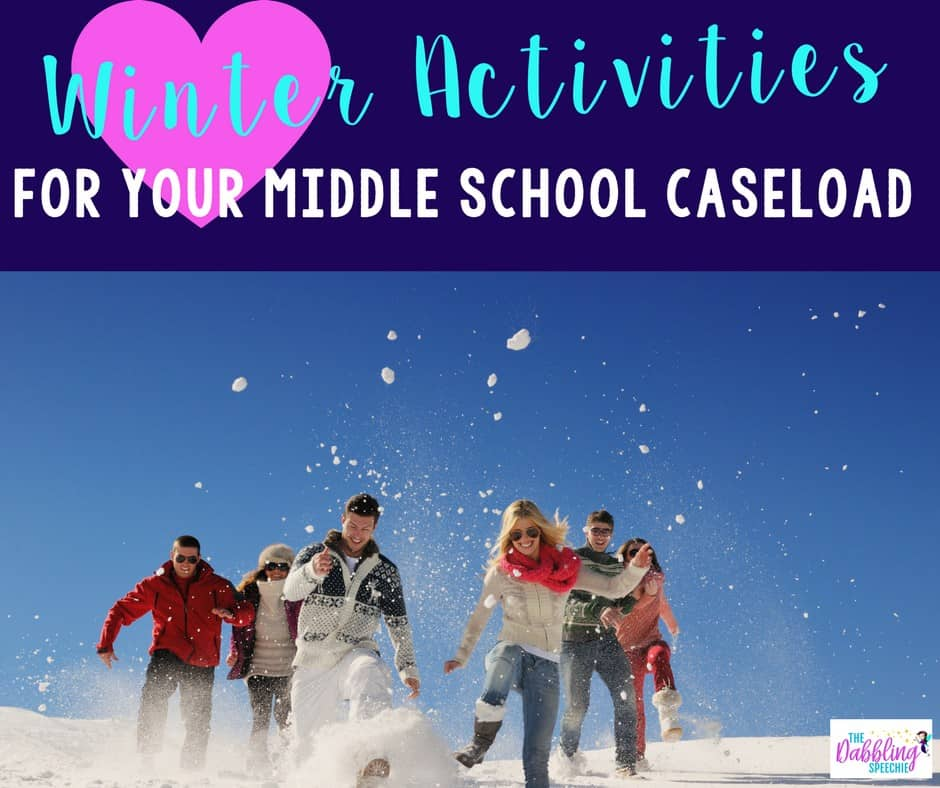 winter therapy ideas for middle school that are age appropriate, but still easy and fun to use.