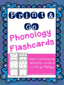 Phonology Picture Flashcards- Just Print N' Go!