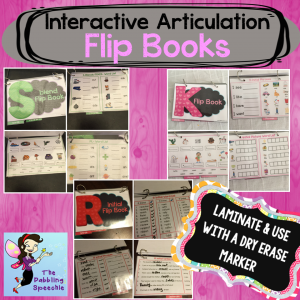 Interactive Flip Books For Articulation Therapy!