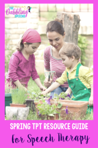Spring Resources For Speech Therapy: A TPT round up of spring themed products