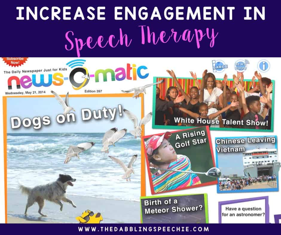 news o matic in speech therapy