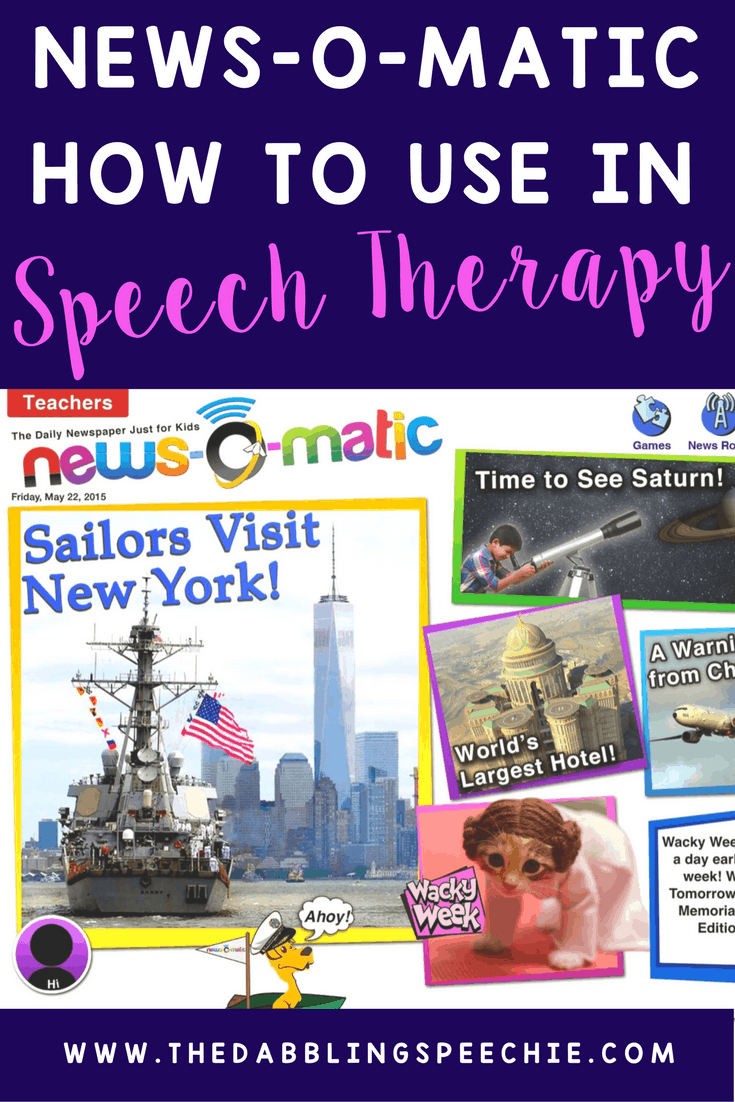 How to use New-o-matic app in speech therapy. It is a great app for increasing engagement while working on articulation, inferencing, grammar and language development.