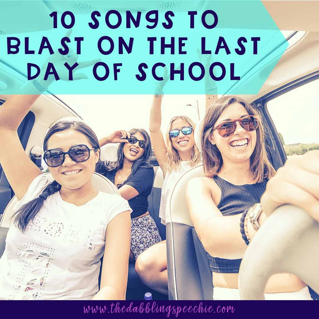 songs to celebrate the end of the school year to get ya in the mood for summer. An educator's song playlist for summer break.