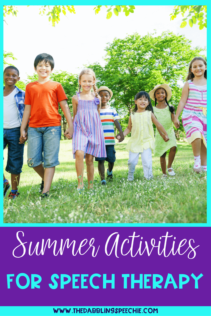 summer speech therapy activities for SLPs, special education teachers and ESL teachers. Great for summer themes or summer school lessons.