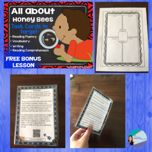 honeybees non-fiction task card FREE