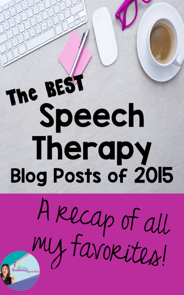best speech therapy blog posts