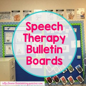 speech therapy bulletin boards 1