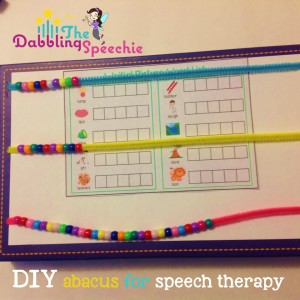 diy abacus for speech therapy