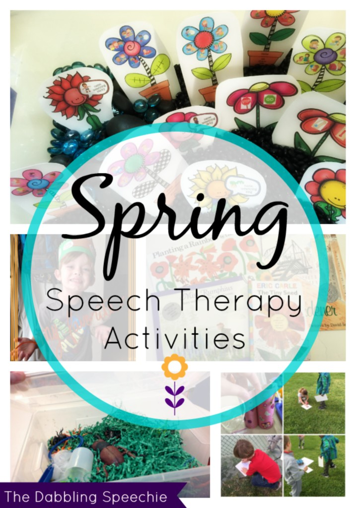 spring speech therapy activities for the creative SLP