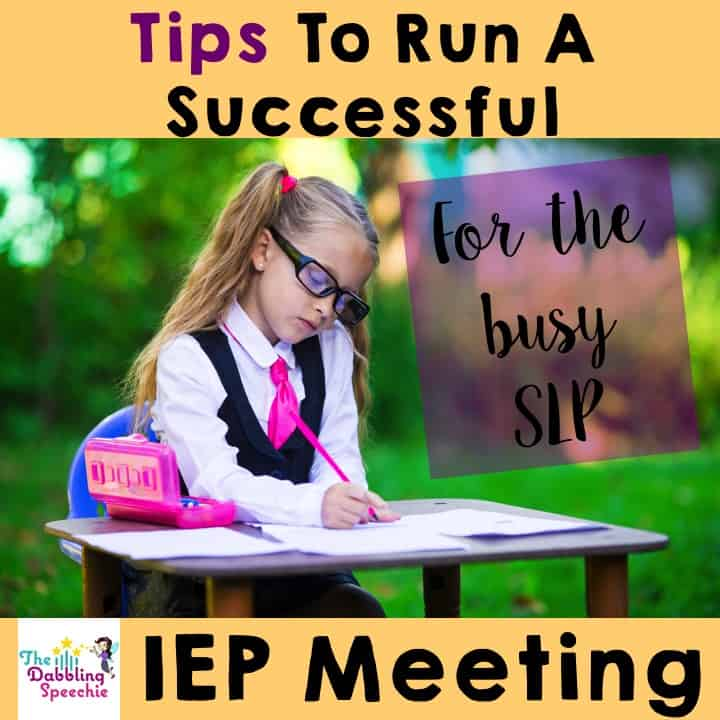 tips to run a successful IEP meeting