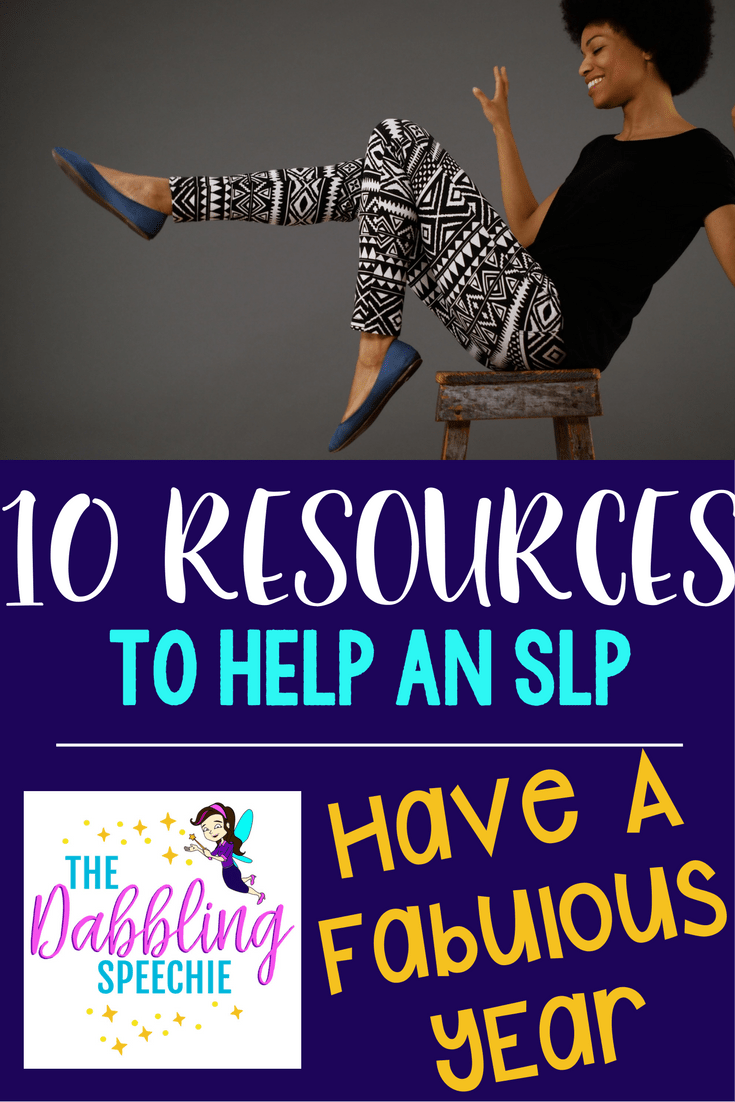 10 resources to help an SLP have a fabulous year