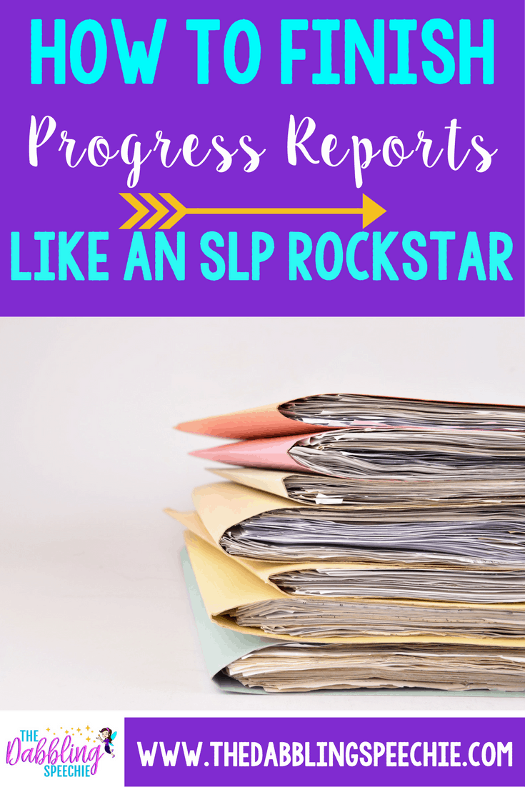 how to finish progress reports like a rock star
