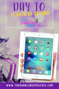 Day 10 of my 12 Days Of Giving- An IPad Mini