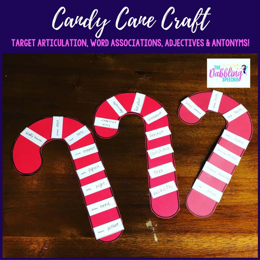 easy holiday activities for the busy slp using candy cane craft for your older students