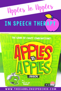 How To Use Apples To Apples In Speech Therapy