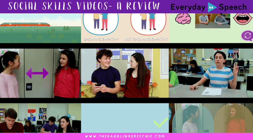 Everyday Speech Social Skills Videos for social pragmatic therapy. These videos are great and save time for lesson planning!