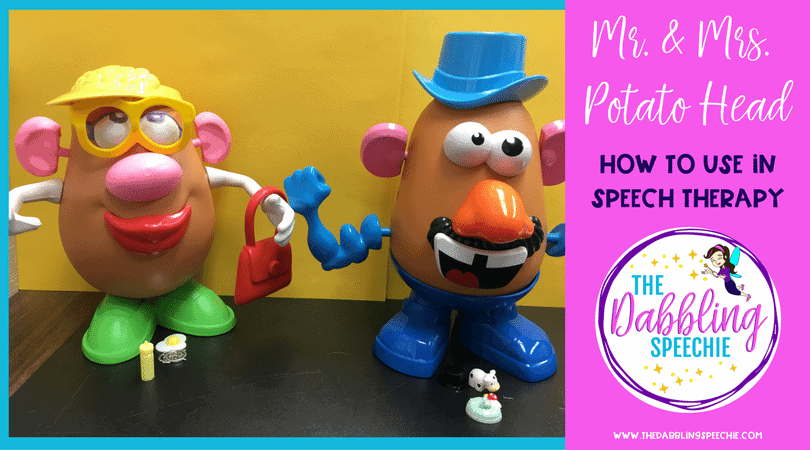 Fun ways to use Mr. & Mrs. Potato Head in speech therapy to keep your students engaged and motivated to communicate!