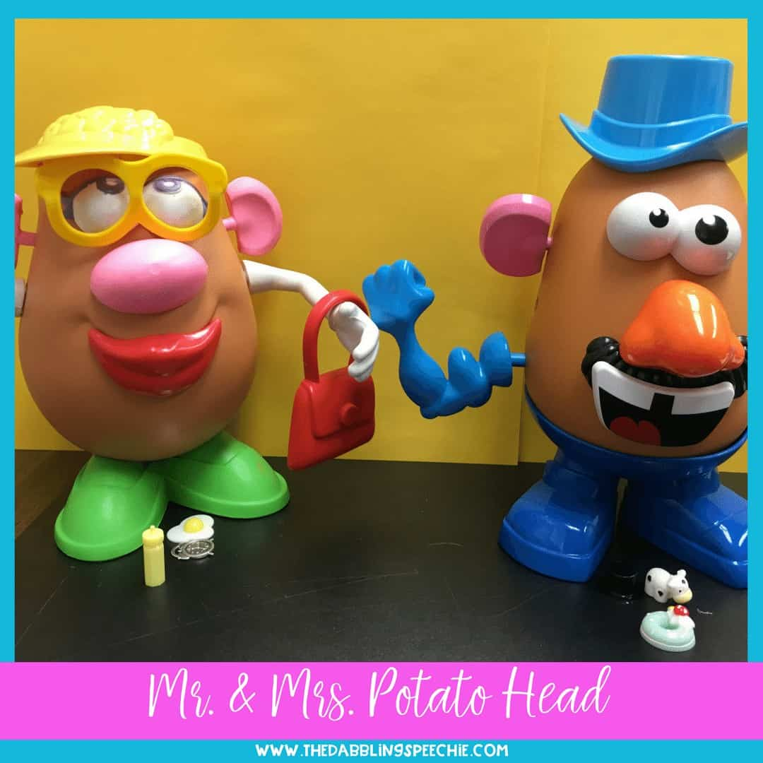 Mr. Potato Head speech therapy. A great toy for speech therapy