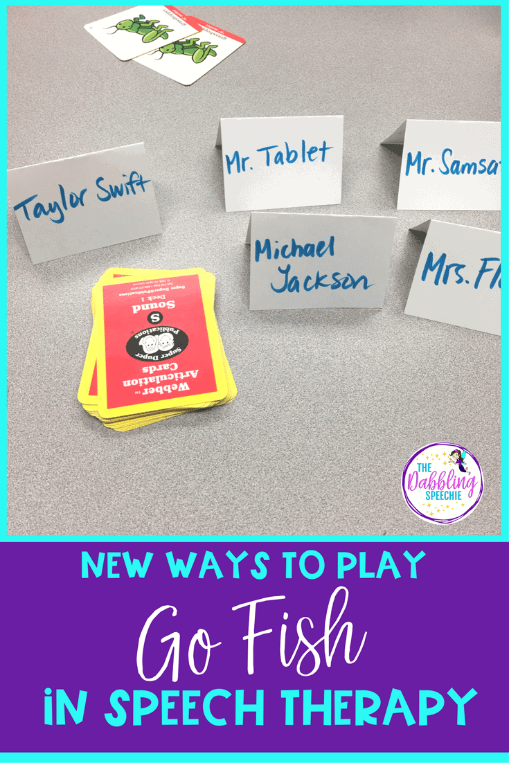 Go Fish in Speech Therapy- New ways to make this game come to life for your students in speech therapy.